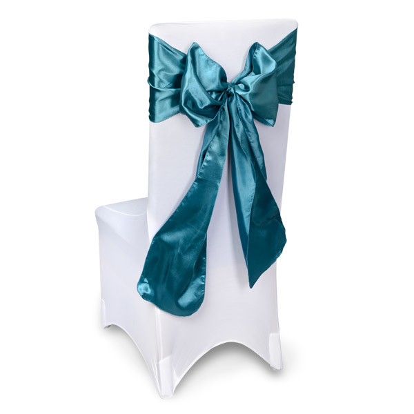 Teal Chair Sashes Event Planners Surrey  sc 1 st  Event Planners | Surrey & Satin Chair Sashes Sheer Chair Sashes Vintage Flock Chair Sashes